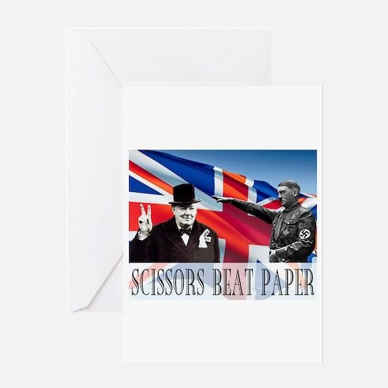 Scissors Beat Paper Greeting Card