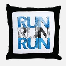 RUN x 3 Throw Pillow