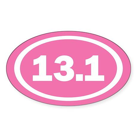13.1 Pink Oval True Sticker (Oval)