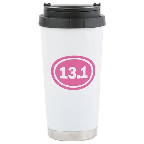 13.1 Pink Oval True Stainless Steel Travel Mug