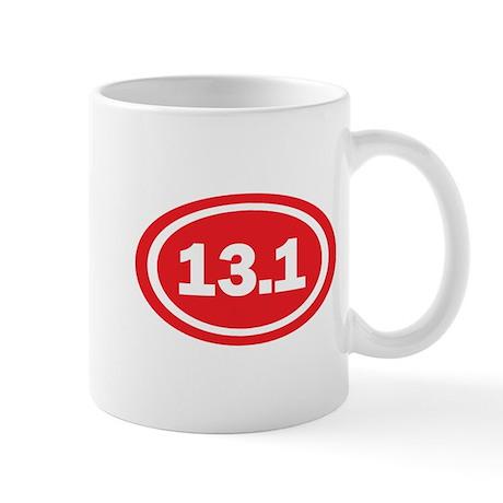 13.1 Red Oval True Mug