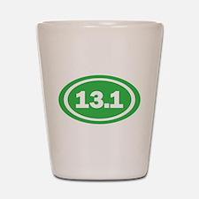 13.1 Green Oval True Shot Glass