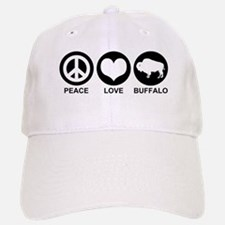 Peace Love Buffalo Baseball Baseball Cap