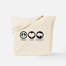 Peace Love Buffalo Tote Bag