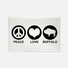 Peace Love Buffalo Rectangle Magnet