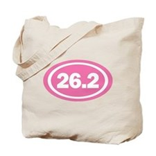 26.2 Pink Oval True Tote Bag
