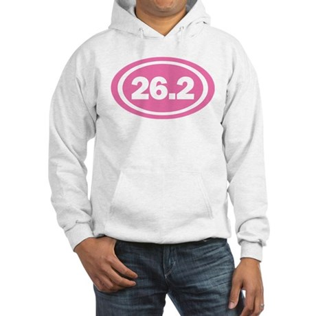 26.2 Pink Oval True Hooded Sweatshirt