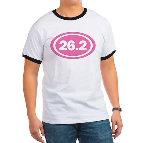 26.2 Pink Oval True Ringer T