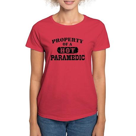 Property of a Hot Paramedic Women's Dark T-Shirt