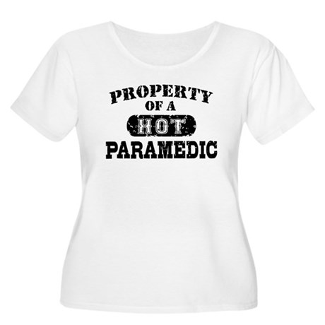 Property of a Hot Paramedic Women's Plus Size Scoo