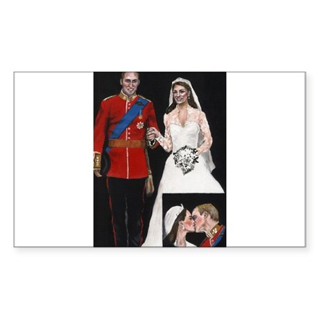 The Royal Couple Sticker (Rectangle)