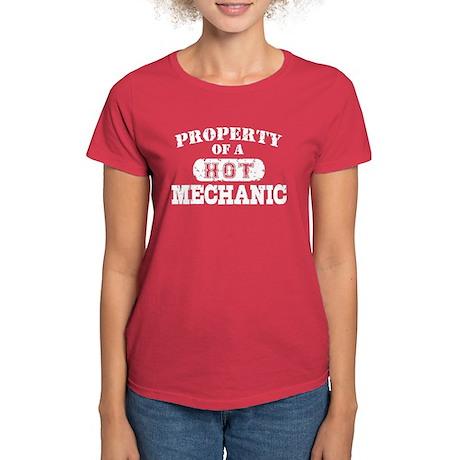 Property of a Hot Mechanic Women's Dark T-Shirt