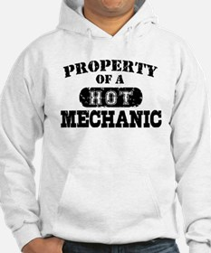 Property of a Hot Mechanic Hoodie