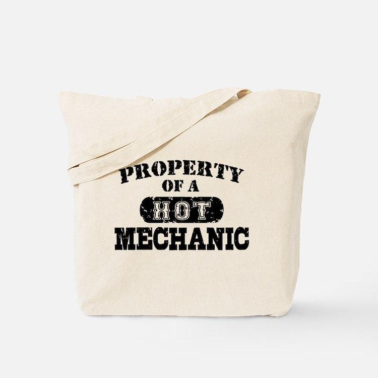 Property of a Hot Mechanic Tote Bag