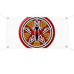 Red Goddess Pentacle Banner