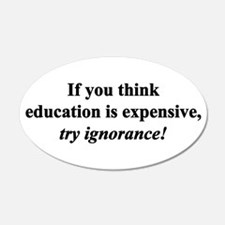 Education quote (black) 22x14 Oval Wall Peel