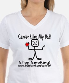 Cancer Killed My Dad Stop Smo Ash Grey T-Shirt