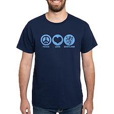 Peace Love Scotland T-Shirt