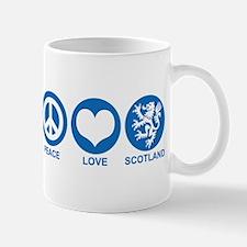 Peace Love Scotland Mug