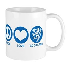 Peace Love Scotland Mug