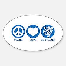 Peace Love Scotland Decal