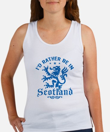 I'd Rather Be In Scotland Women's Tank Top