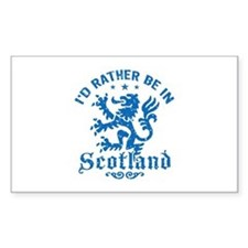 I'd Rather Be In Scotland Decal
