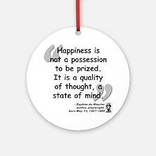 Du Maruier Happiness Ornament (Round)