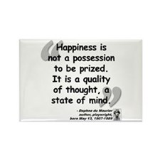 Du Maruier Happiness Rectangle Magnet