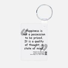 Du Maruier Happiness Aluminum Photo Keychain