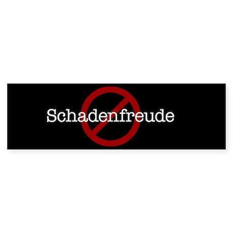 No Schadenfreude