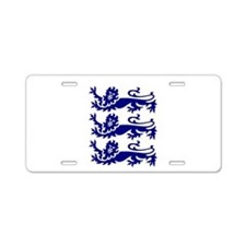 Lionheart Three Lions Aluminum License Plate