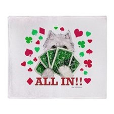 DOGS PLAYING POKER! Throw Blanket