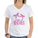 2021 Girls Graduation Women's V-Neck T-Shirt