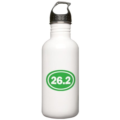 26.2 Green Oval True Stainless Water Bottle 1.0L