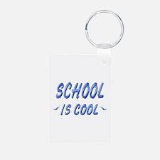 School is Cool Aluminum Photo Keychain