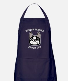 Boston Terrier Proud Dad Apron (dark)