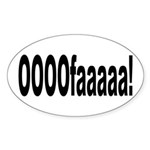 Italian expression Sticker (Oval)
