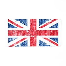 Vintage British Aluminum License Plate