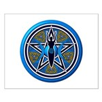 Blue-Gold Goddess Pentacle Small Poster