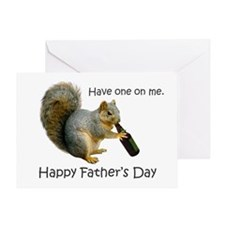 Squirrel Beer Father's Day Greeting Card
