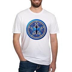 Blue-Silver Goddess Pentacle Shirt
