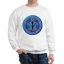 Blue-Silver Goddess Pentacle Sweatshirt