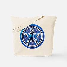 Blue-Silver Goddess Pentacle Tote Bag