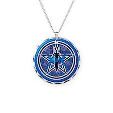 Blue-Silver Goddess Pentacle Necklace