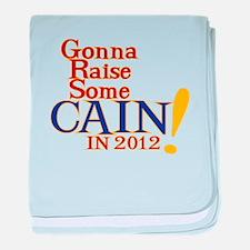 Raising Some Cain baby blanket
