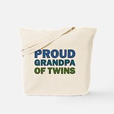 Proud Grandpa of Twins Tote Bag