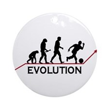 Bowling Evolution Ornament (Round)