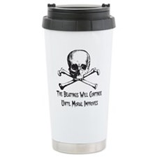 The Beatings Will Continue Travel Mug