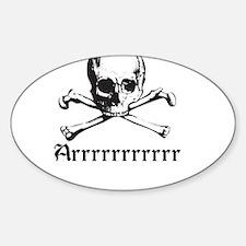 Arrrrrrrrrrrr Sticker (Oval)